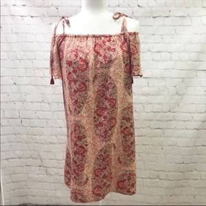 Madewell Festival Watercolor Silk Paisley Dress